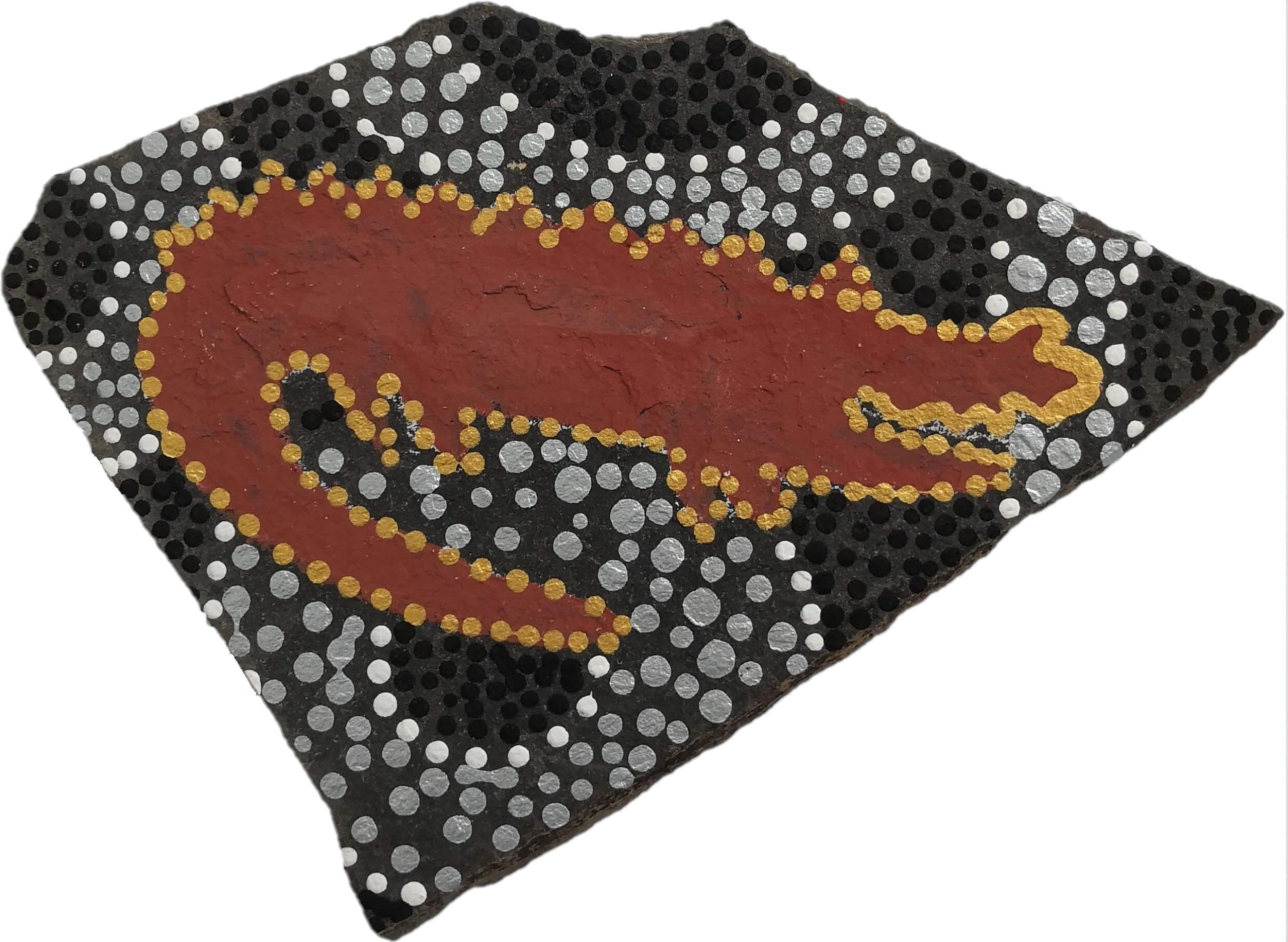 Krokodýl ve stylu kreseb domorodců