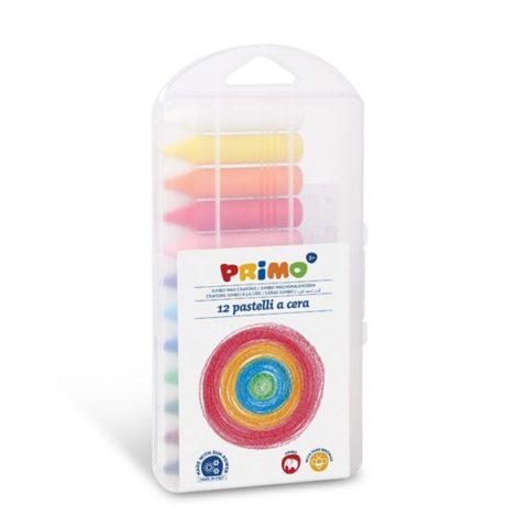 Voskové pastelky PRIMO JUMBO, 13,5 x 65mm, 12ks, PP obal