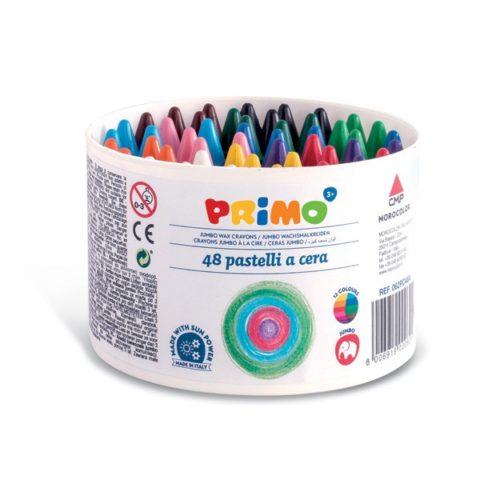 Voskové pastelky PRIMO JUMBO, 13,5 x 65mm, 48ks, PP etue
