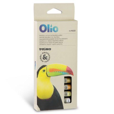 Olejové křídy PRIMO akvarelové, 10 x 60mm, 12ks, papírový obal
