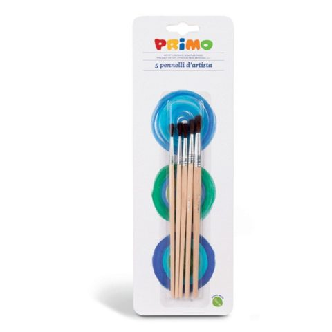 Sada kulatých štětců PRIMO, 5ks, blistr