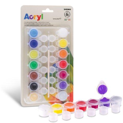 Akrylové barvy PRIMO, 14 x 4,5ml, blistr