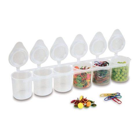 Kelímky plastové PRIMO, sada 6 x 25ml