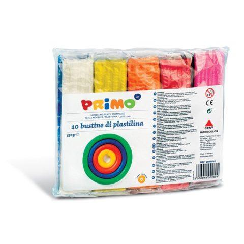 Plastelína PRIMO, sada 10 x 55g, mix barev, PP obal