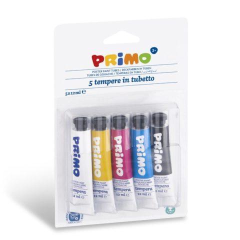Temperové barvy Primo, tuby, blistr