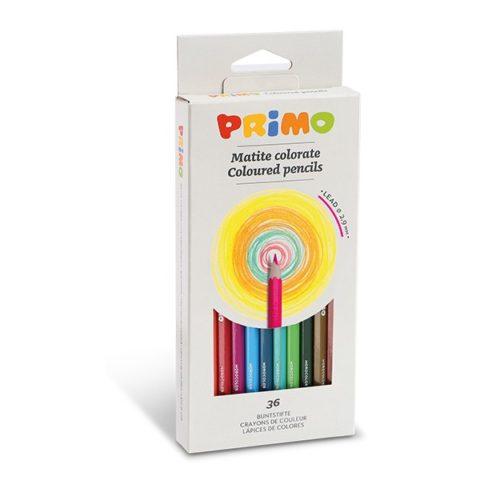 Pastelky šestihranné PRIMO, tuha Ø 2,9mm, 36ks, papírový obal
