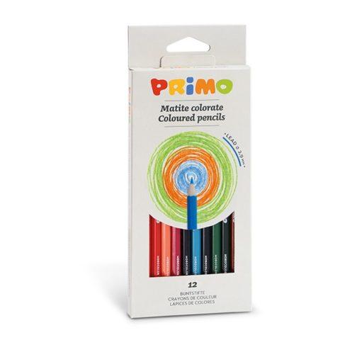 Pastelky šestihranné PRIMO, tuha Ø 2,9mm, 12ks, papírový obal