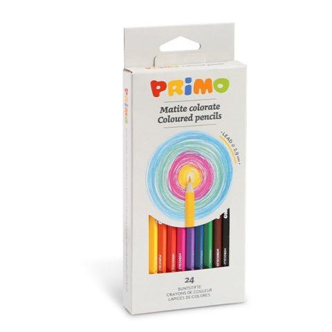 Pastelky šestihranné PRIMO, tuha Ø 2,9mm, 24ks, papírový obal