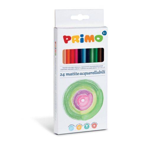 Pastelky trojboké akvarelové PRIMO, tuha Ø 2,9mm, 24ks, papírový obal