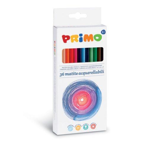 Pastelky trojboké akvarelové PRIMO, tuha Ø 2,9mm, 36ks, papírový obal