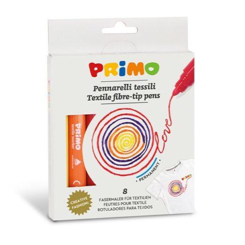 Fixy na textil PRIMO, sada 8ks, papírový obal