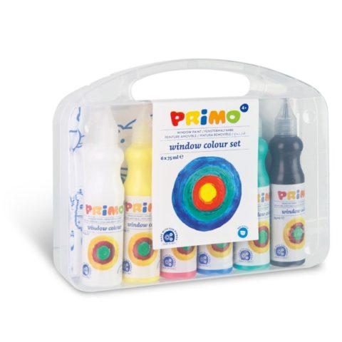 Barvy na sklo PRIMO, sada 6 x 75ml, PP box
