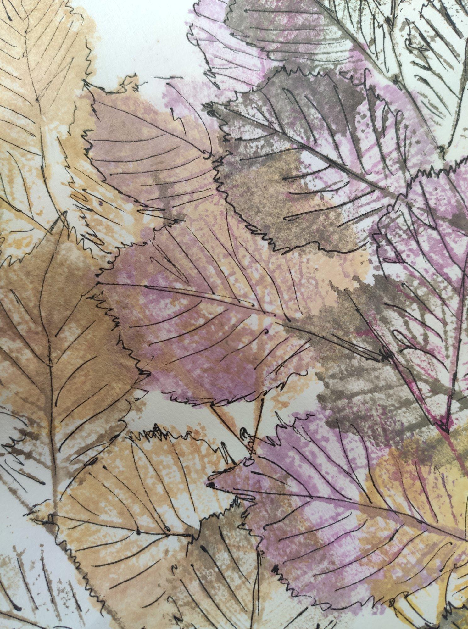 Tisk listů pomocí vodových barev