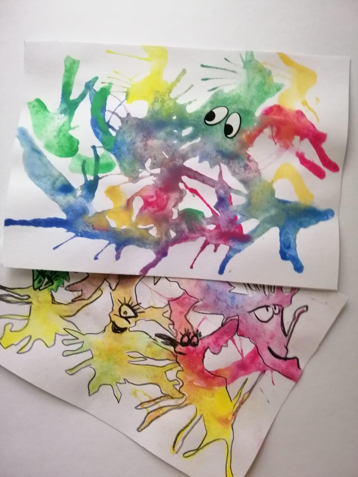 Vodové barvy a umělecké kaňky