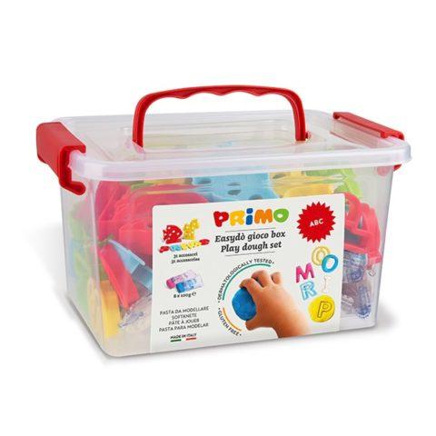 Sada mod. hmot PRIMO NATUR ABC, 8 x 100g + 32 pomůcek, PP Box