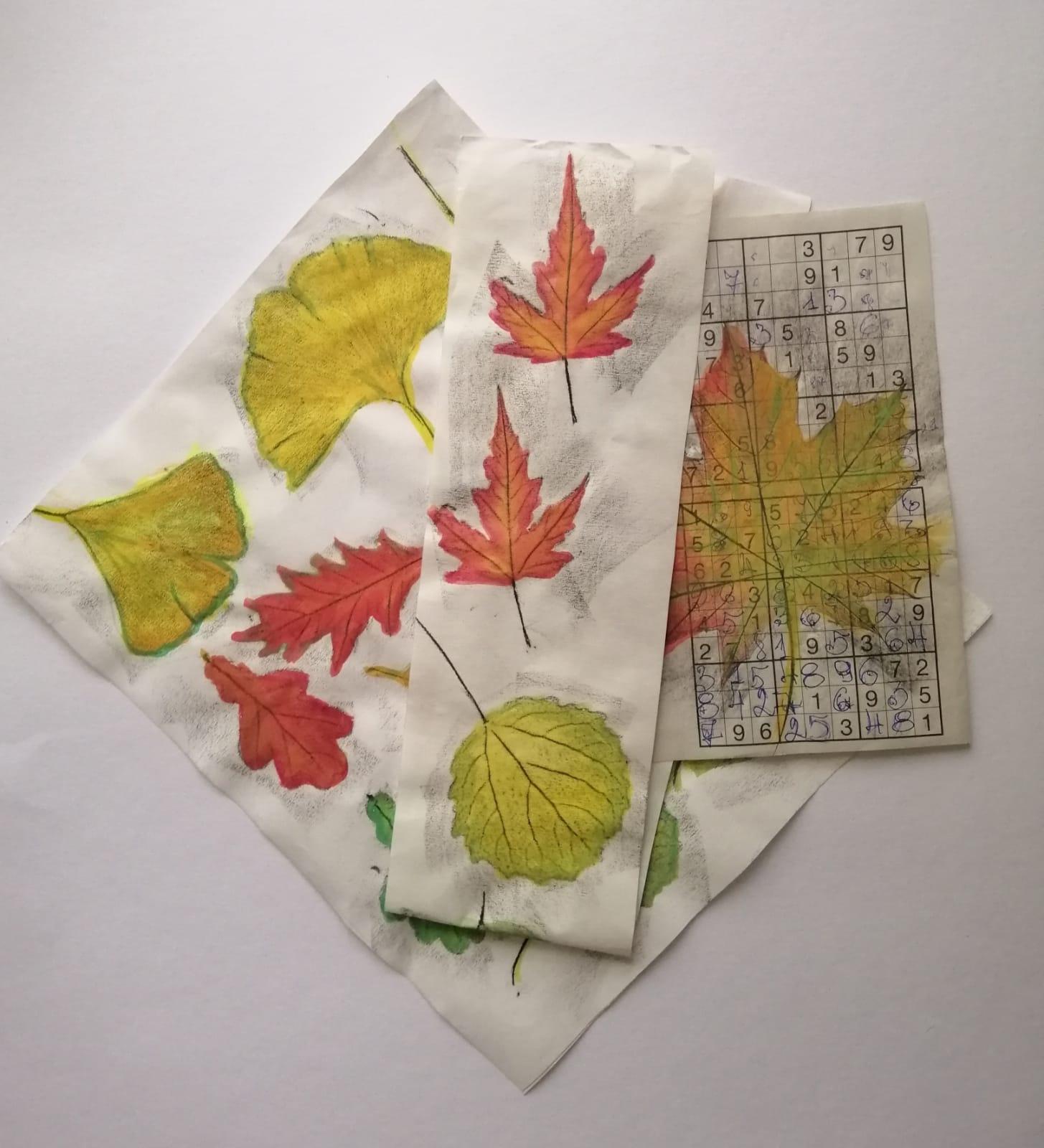 Tisk podzimních listů