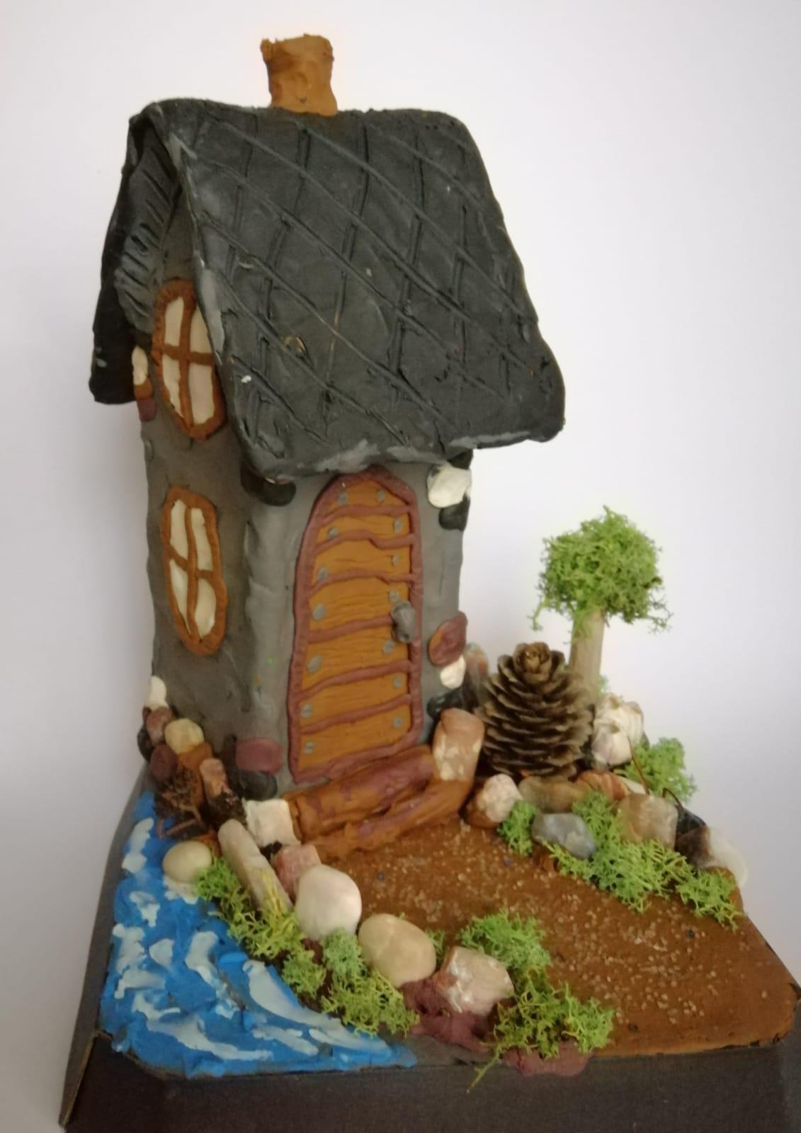 3D domeček z plastelíny