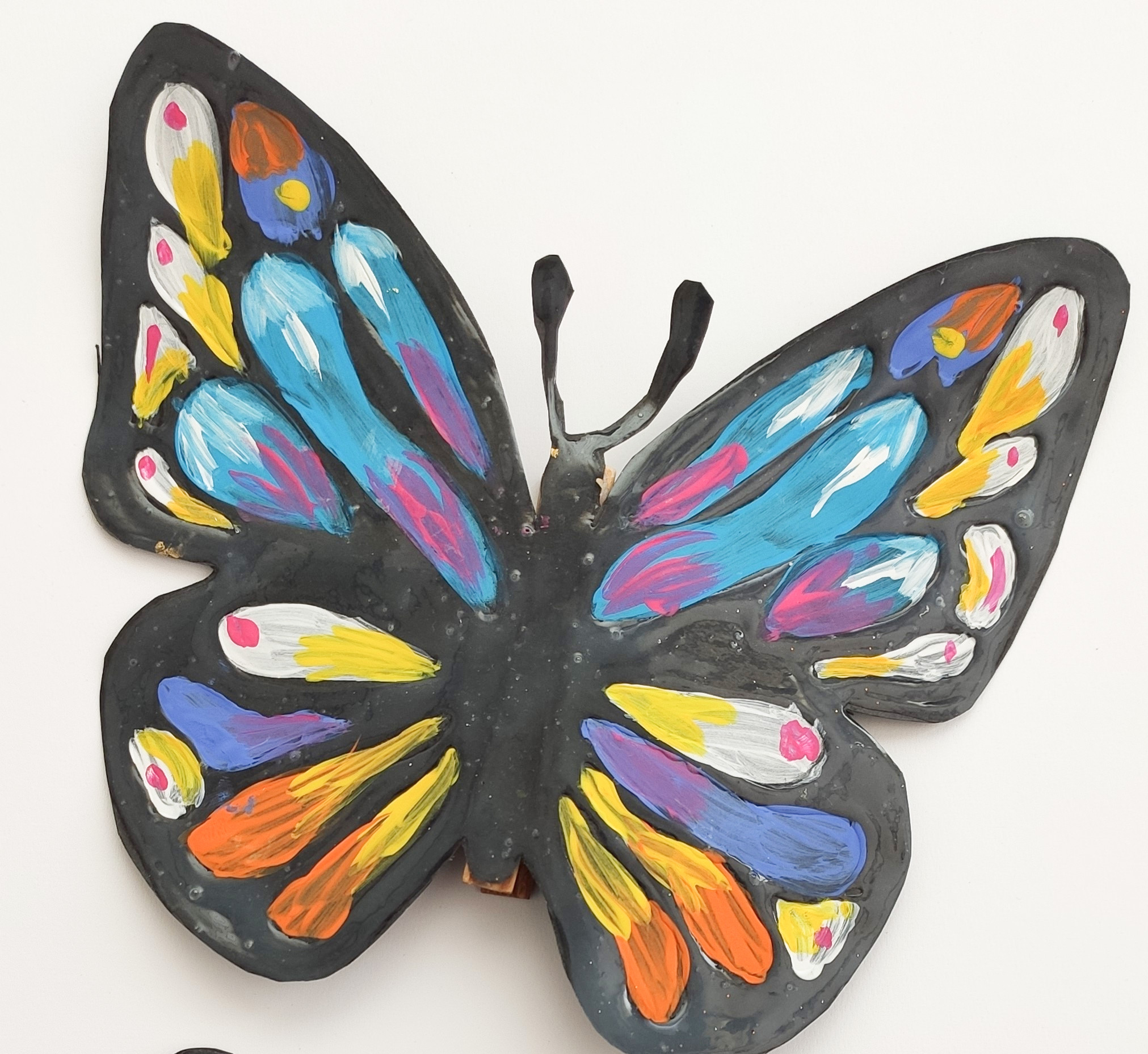 Vitrážová kresba – motýl