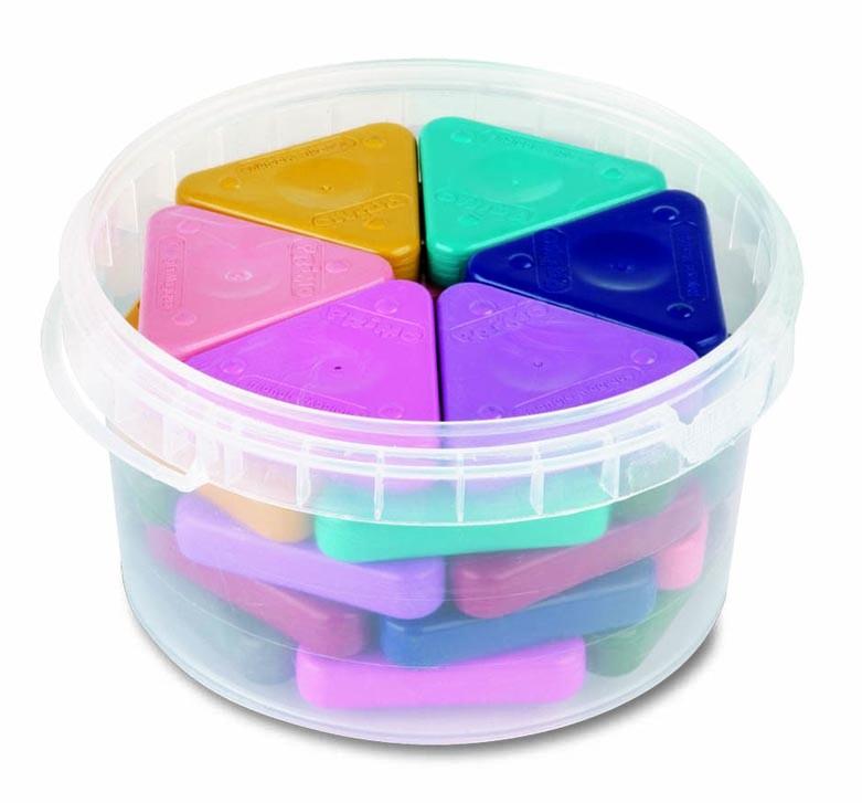 Voskovky trojboké MAGIC PASTEL, sada 30ks (3 x 10 barev)