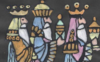 Vitráž Tři Králové