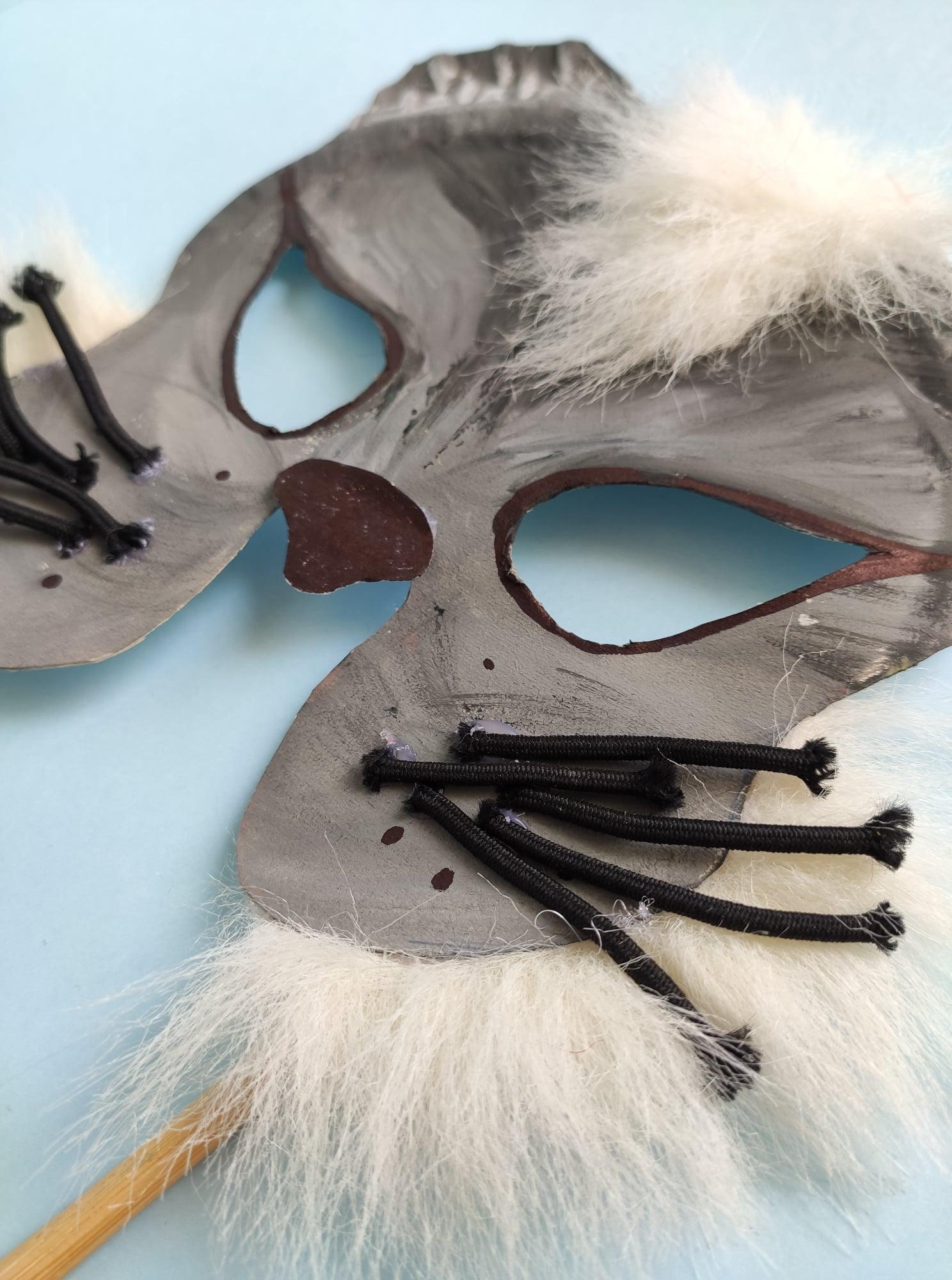 Karnevalová maska – kočka