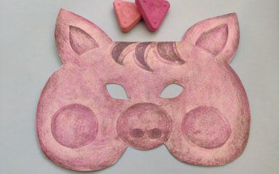 Karnevalová maska – prasátko