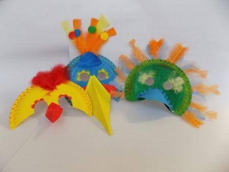 Karnevalové masky – ptáci