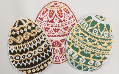 Papírová malovaná vajíčka