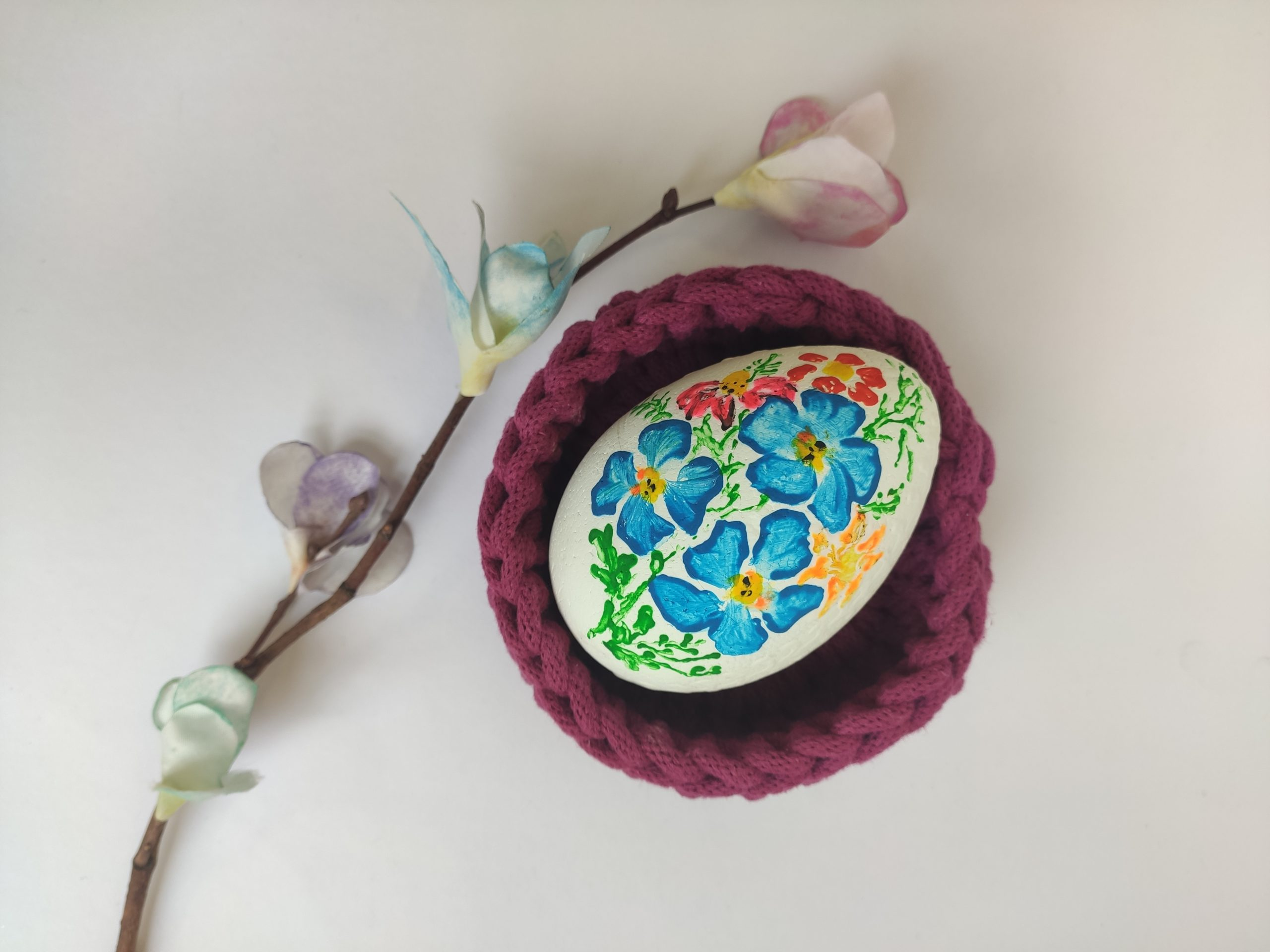 Vajíčka malovaná temperovými barvami