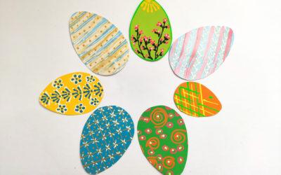 Malovaná papírová vajíčka