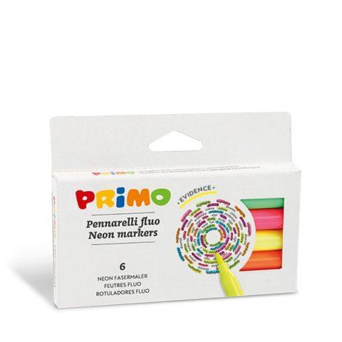 Fixy PRIMO FLUO, 6 barev