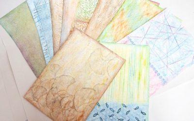 Frotáž – výroba dekorativního papíru