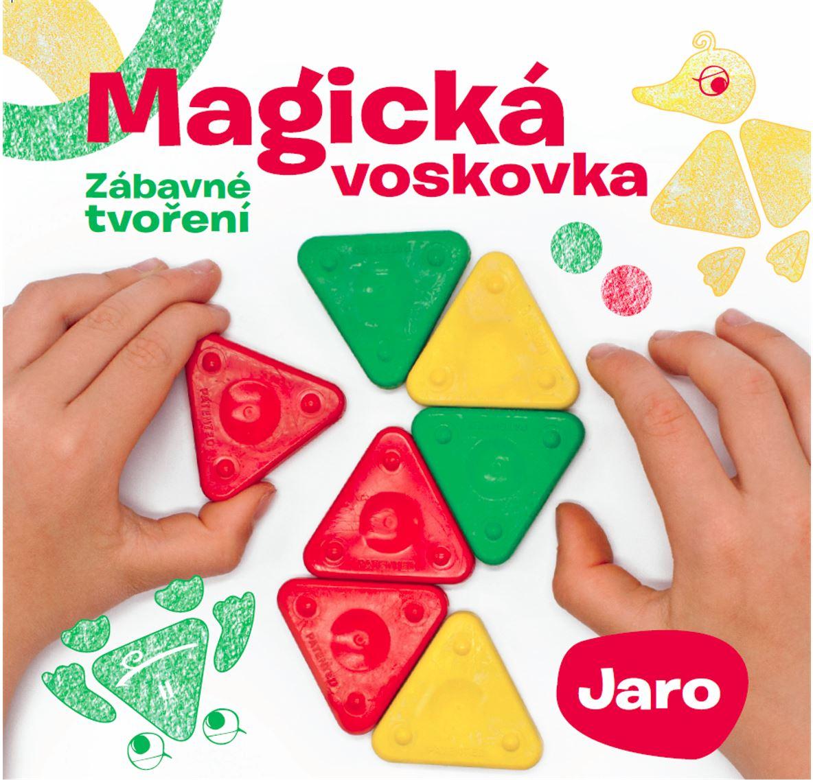 Kniha – Magická voskovka; Zábavné tvoření, díl 1. JARO