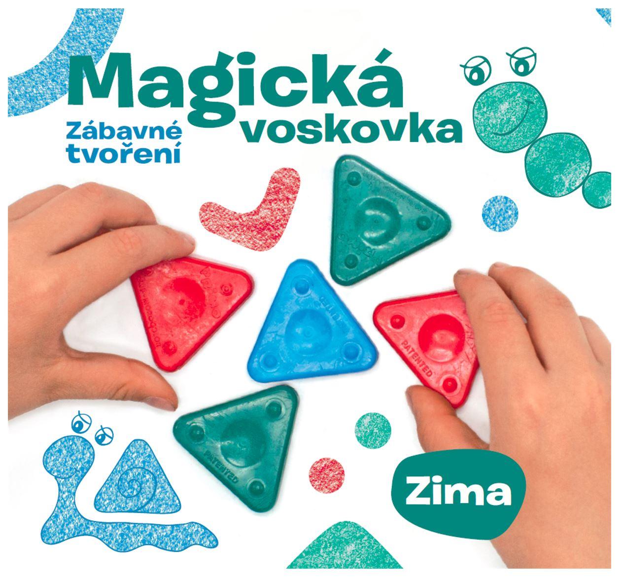Kniha – Magická voskovka; Zábavné tvoření, díl 4. ZIMA